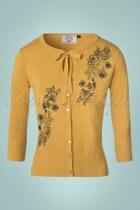 Banned Delilah Mustard Rose Cardigan 140 80 22383 20170828 0002W
