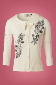 Banned Delilah Off White Roses Cardigan 140 50 22382 20170828 0001W