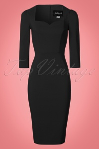Collectif Clothing Vanessa Pencil Dress in Black 21965 20170612 0002W