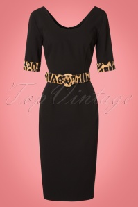 Collectif Clothing June Leopard Pencil Dress  22113 20170612 0002W