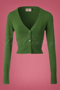 50s Lets Go Dancing Cardigan in Olive Green