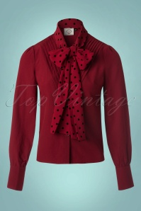 Banned Red Bow Blouse 112 20 22291 20170828 0003W