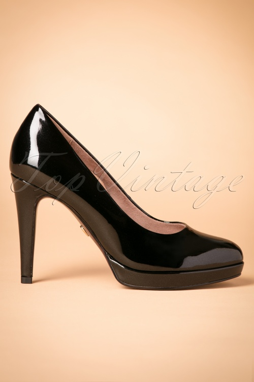 heart tamaris pumps schwarz gold