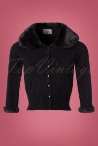 Banned Sapphire Black Faux Fur Cardigan 140 10 22384 20170828 0003W