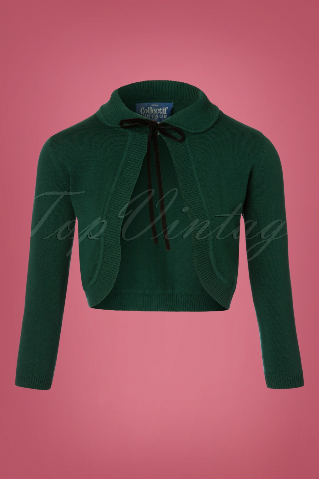Retro Vintage Sweaters 40s Andi Knitted Bolero in Green £41.94 AT vintagedancer.com