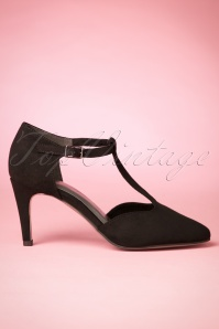Tamaris T Strap  Suede Pump in black 400 10 22555 20170905 0007w
