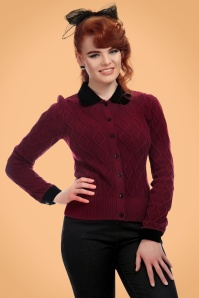 Collectif Clothing Imogen Cardigan in Red 21784 20170609 001