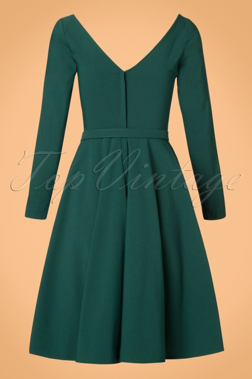 5ffa1217f Collectif Clothing Nicky Doll Dress in Teal 21833 20170613 0019W
