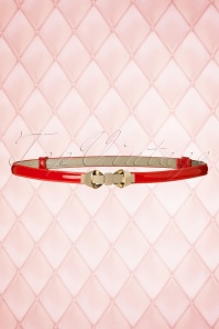 50s Bitter Sweet Bow Belt in Red