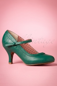 Bettie Page Shoes 50s Bettie Pumps in Green