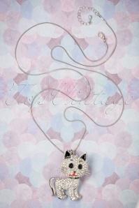 Darling Divine Kitten Silver Necklace 300 92 22203 21062017 001W