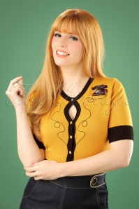 50s Call Me Cardigan in Yellow