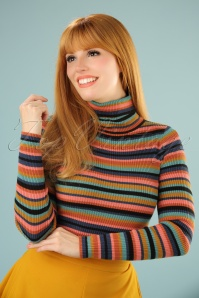 King Louie Turtleneck Striped Glitter Top 113 39 21351 20170811 0004W