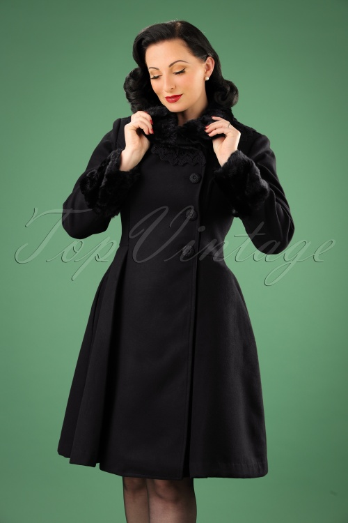 Bunny Angeline Coat in Black 152 10 13446 20140625 0014W