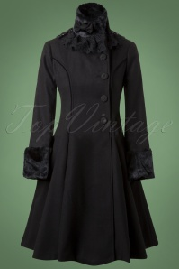 Bunny Angeline Coat in Black 152 10 13446 20140625 0011W