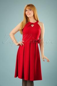 50s Cherel Swing Dress in Lipstick Red