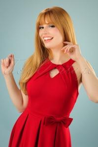 Lindy Bop Cherel Red Bow Dress 102 20 22884 20170821 0009W