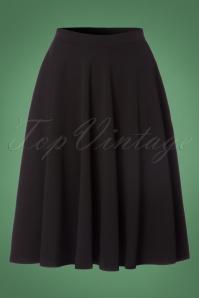 Vintage Chic Scuba Black Flared Skirt 122 10 22507 20170816 0002W