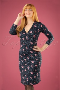 King Louie Cross Dress in floral print 100 14 21296 20170811 00010W