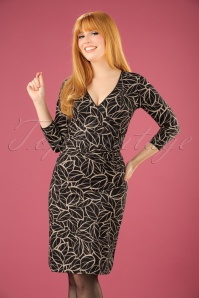 King Louie Cross Dress in Black Leaves 100 14 21352 20170811 0007W