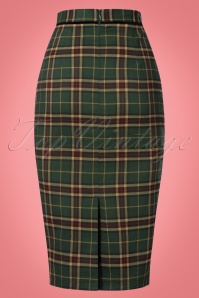 Banned Bliss Green Checked Pencil Skirt 120 49 22364 20170828 0002w
