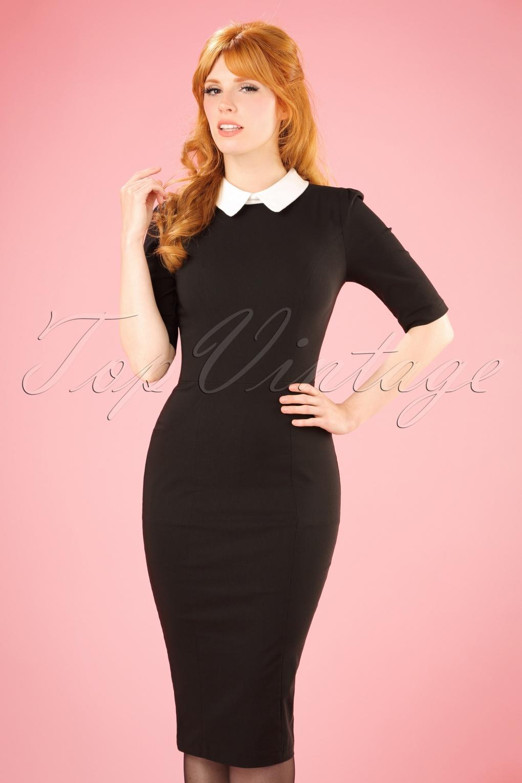 1960s Dresses | 60s Dresses Mod, Mini, Jakie O, Hippie 50s Winona Pencil Dress in Black and White £48.28 AT vintagedancer.com