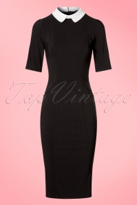 Collectif Clothing Winona Pencil Dress in Black and White 21975 20170612 0003w