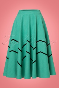Collectif Clothing Milla Swing Skirt in Light Green 21881 20170606 0015W