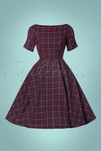 Banned Purple Checked Swing Dress 102 27 22359 20170828 0003W