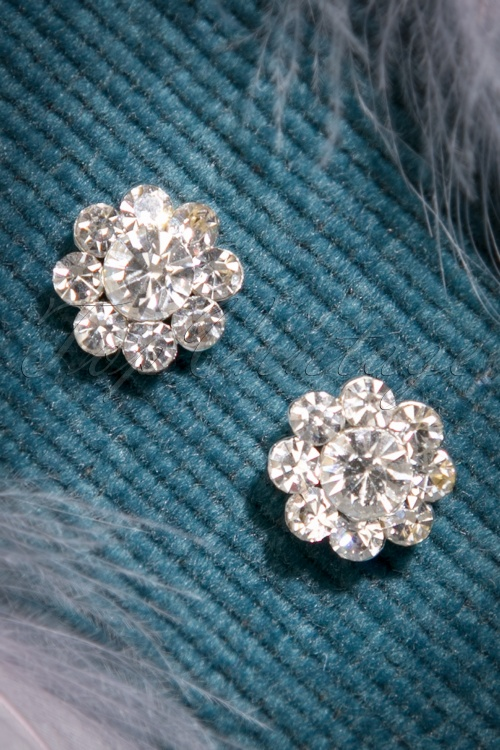 ZaZoo Clear Stone Flower Earrings  330 92 22880 20170828 0012w
