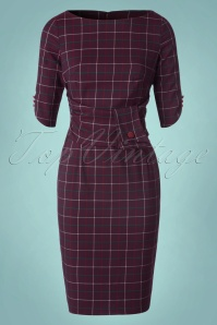 Banned Carlita Purple Check Pencil Dress 100 27 22357W