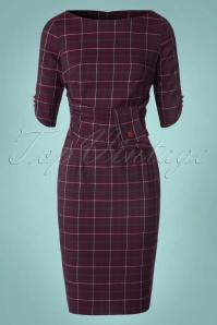 Banned Carlita Purple Check Pencil Dress 100 27 22357W