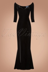 Collectif Clothing Anjelica Velvet Maxi Dress in Black 21824 20170612 0002w