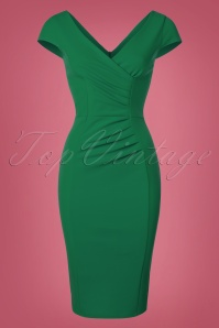 Vintage Chic Scuba Crepe Emerald Pencil Dress 100 40 22688 20170123 0021w
