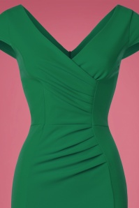 Vintage Chic Scuba Crepe Emerald Pencil Dress 100 40 22688 20170123 0021c