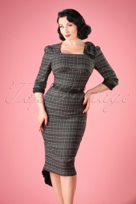 Vixen Grey Pencil Dress 100 19 22009 20170906 001W