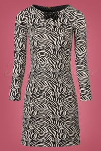 60s Twiggy Stardust Dress in Zebra Zoo