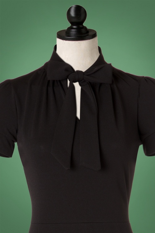 4a54a6d0badf80 Vintage Chic Black Luxury Bodycon Bow Dress 100 10 19253 20160630 0005popV