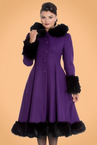 Bunny Elvira Purple Faux Fur Wintercoat 22635 20150921 01