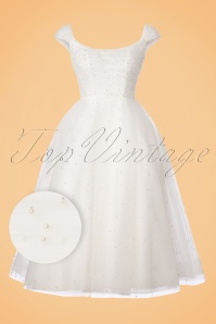Vixen White Pearl Tulle Wedding Dress 102 50 22015 20170907 0003W1