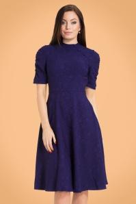 Vintage Chic Purple Asian Floral Dress 102 30 22004 20170907 3