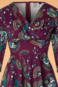 Dancing Days by Banned Franky Peacock Dress in Purple 102 27 22358 20170912 0003V