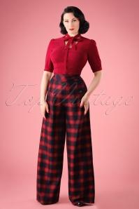 Vixen Rita Tartan Trousers 131 27 22041 20170907 0004W