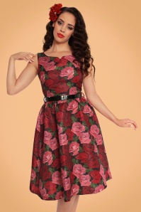 Lindy Bop Nova Roses Swing Dress 102 14 22896 20170831 0016