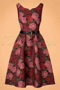 Lindy Bop Nova Roses Swing Dress 102 14 22896 20170831 0008w