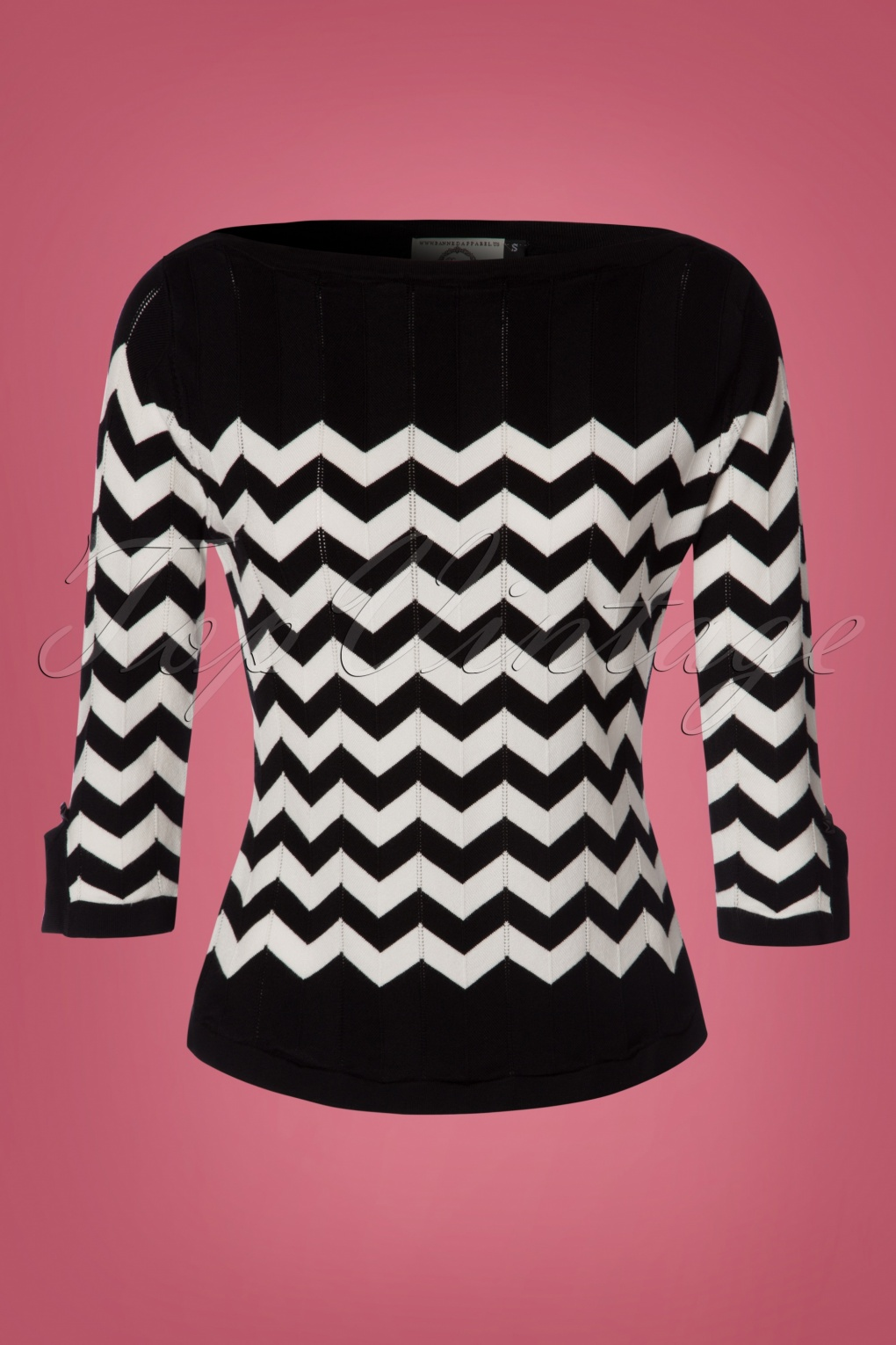 Retro Vintage Sweaters 60s Vanilla Top in Black and White £37.90 AT vintagedancer.com