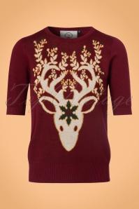 Dancing Days by Banned Ren Deer Sweater in Bordeaux 113 20 22355 20170717 0003w