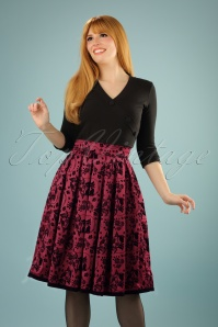 50s Sia Bella Skirt in Burgundy