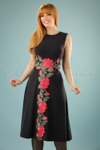Traffic People Geisha Tale Black Rose Dress 102 10 21569 20170818 0006W