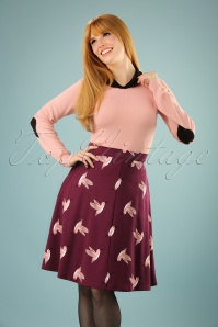 Collectif Clothing Jill Swing Hummingbird Skirt 122 27 21599 20170801 0009W